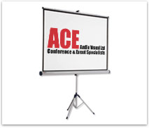 Ace Audio Visual equipment hire projector screens
